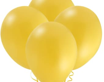 FAST SHIP 12 Yellow Balloons, Yellow Birthday Party Balloons,  Yellow Latex Balloon, Yellow Baby Shower Balloons, Yellow Party Decorations