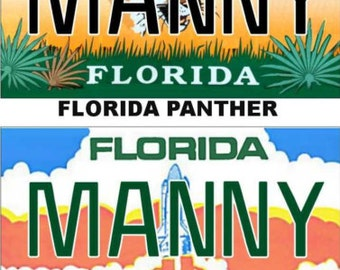 Personalized Florida Refrigerator Magnet State License Plate Replica