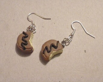 Earrings  Bitten chocolate/birthday Christmas present/charm/novelty gift SALE