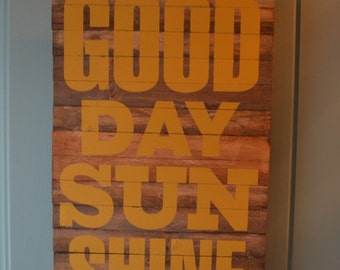 good day sunshine handcrafted vintage look wood sign looks great on a front door is indoor/outdoor