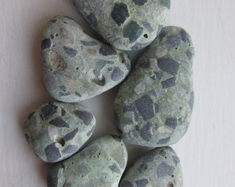Green Terrazzo, Beach Treasure, Craft Supply, Beach Finds, Art Supply, Mosaic Supply