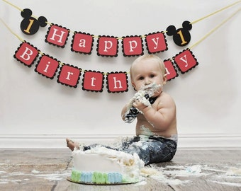 Mickey Mouse Birthday banner,  first birthday, mickey mouse club house, Disney birthday, mickey