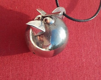 Angry birds,solid sterling silver, handmade pendant,Miniature OOAK