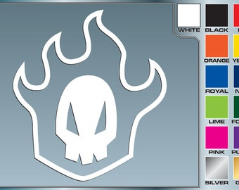 RUKIA SKULL from Bleach Cut Vinyl Decal Car Laptop Anime Sticker for Almost Anything
