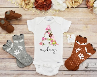 Boho Baby Onesie®, Personalized Baby Gift, Personalized Shirt, Baby Shower Gift, Baby Girl Clothes, Take Home Outfit, Floral Onesie®, Baby