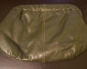 Vintage Army Green Clutch Purse