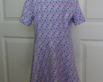 Girls Dress Knit Tee Shirt  Dress Lavender Purple Toddler Knit T Shirt Dress Cotton Knit Sizes 2 3 4 5 6 7 8 10 12