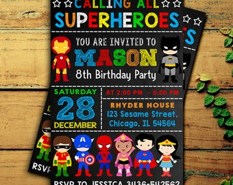 Superhero invitation etsy superhero invitation superhero birthday invitation superhero birthday superhero party superhero birthday party stopboris Gallery