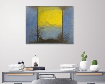"Oil Painting 16""x20"", Canvas Art, Decor Art, Oil Painting, Landscape ,Lady On Canvas"