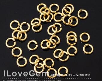 SALE / 50 gram / Jumpring, 16KT Gold plated, 5mm round, 18 gauge, 1X5mm, Jump Rings