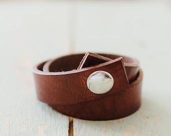 Leather bracelet, leather wrap bracelet, leather cuff, wrap leather bracelet, leather wrap bracelet for women, gift for her, girlfriend gift
