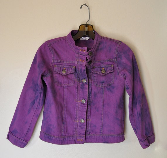 32 Best Compliments Of Purple Images On Pinterest: Kids Purple Sz 6 Year Denim JACKET Violet Hand Dyed Upcycled