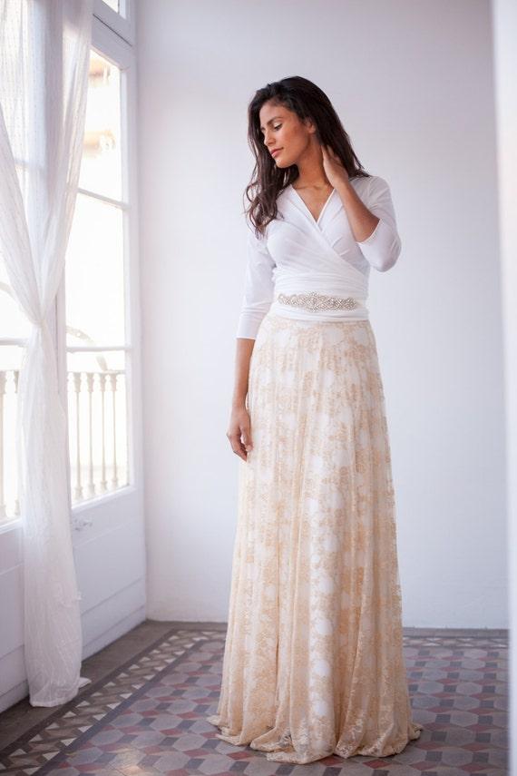 Detachable lace skirt for wedding dress detachable long skirt detachable lace skirt for wedding dress detachable long skirt for long gown make your wedding lace dress add a lace long skirt to dress junglespirit Gallery