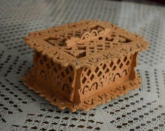Jewerly box, Wooden box, Handmade box, Scroll Saw box, Handmade, Jewelry storage, Home decor, Decoration, Necklace box, Pendant box, Art