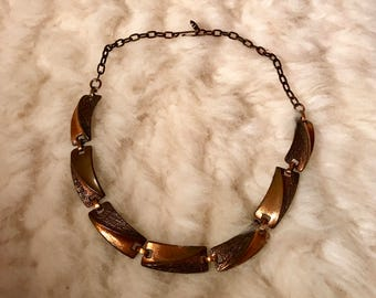Mid century copper necklace