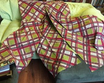 Rare Vintage Bark Cloth Panels