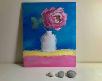 Origional Acrylic painting Rose