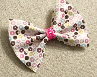 Donuts Faux Leather Hair Bow