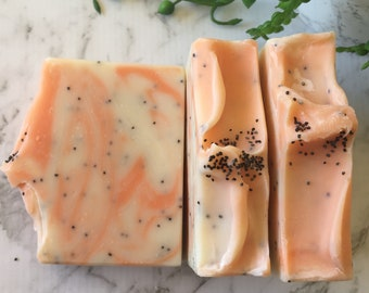 Orange Poppyseed Soap, Vegan Soap, Essential Oil Soap, Orange Soap, Poppyseed Soap