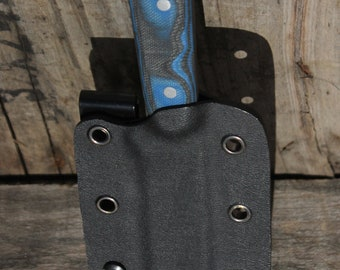 Custom Knife - Black and Blue G10 handle