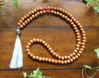 Tassel Necklace Wooden Bead Tassel Necklace