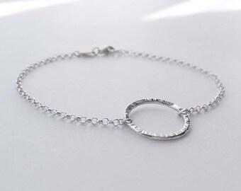 Dainty sterling silver o-ring bracelet. Submissive jewelry. Delicate silver bracelet. Bdsm jewelry. Circle bracelet. Scandinavian jewelry