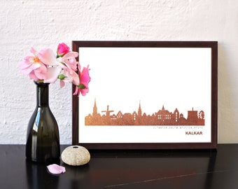 Kalkar Art Print, Kalkar Artwork, Kalkar Decor, Kalkar Poster, Kalkar Wall Art, Kalkar Skyline, Kalkar Gift, Wedding Gift,