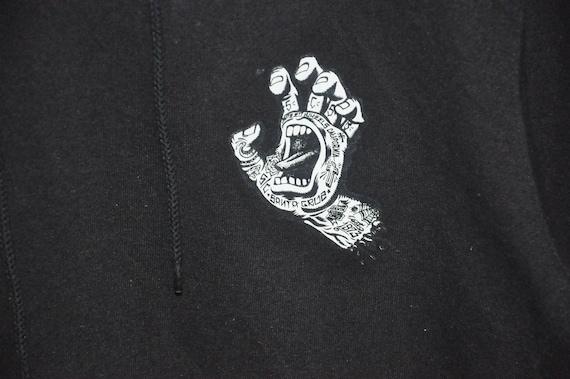 Punk Cruz Santa Rare Sweater Screaming Hand Skate Sweatshirt Hoodie Skateboards PRgUqYUw