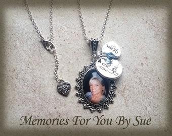 Remembrance Necklace-Personalized Photo Necklace-Custom Photo Pendant-Keepsake Jewelry-Personalized Gift-Memory Necklace-Charmed Necklace