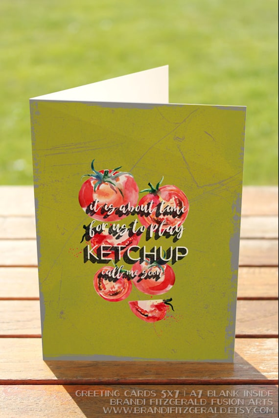 Tomato greeting card lets ketchup soon produce humor like this item m4hsunfo