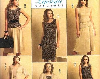 Butterick 5190 Misses Lifestyle Wardrobe Pattern, Jacket, Top, Dress, Skirt And Pants, 16-24, UNCUT