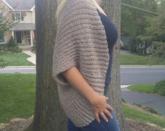 Crochet cocoon sweater