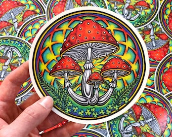 Psychedelic Sticker Etsy