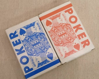 2 x Vintage Poker Playing Cards, 2 decks made in GDR. Sealed.