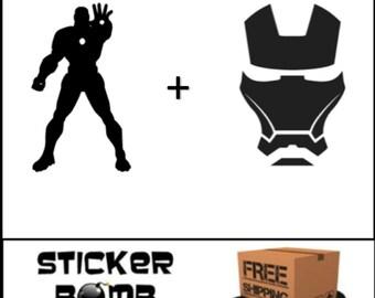 Iron Man Decal Set | Avengers Infinity War |Sticker Marvel Comics DC JDM Inventor Superhero