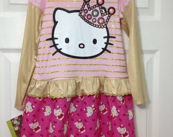 Cute Kitty T-Shirt Dress Size 6