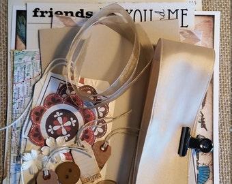 Inspiration Kit; Junk Journal Kit; Scrapbook Kit; Brown Craft Kit; Smash book