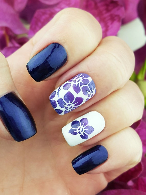 Orchids Nail Art Stencils - incredible nail art vinyls by Unail from ...
