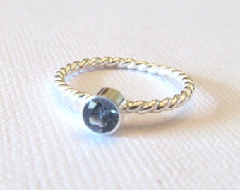 Gemstone Stacking Ring, Mothers Ring, Birthstone Ring