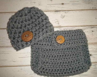 Newborn Hat and Diaper Cover, Baby Boy Outfits, Baby Boy clothes, Shower Gift For Baby Boy, New Mom Gift, Newborn Pants, Newborn Outfit,