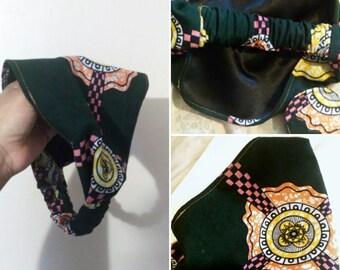 Wide Headband, African Fabric Headband, Satin Lined Headband, Kente Headband, Cloth Headband, Wide Headband, Fabric Headband
