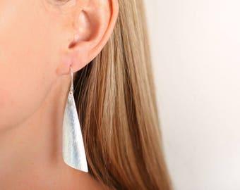 Silver Earrings Simple Earrings Unusual Earrings Unusual Jewellery Silver Jewellery Silver Jewelry Long Earrings Drop Earrings
