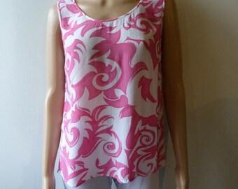 Guy Laroche top Pink White size 44 / XL