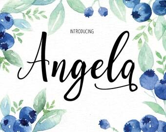 Hand written font Font download - Calligraphy font - Font instant download - Digital font - Wedding font - Hand lettered font