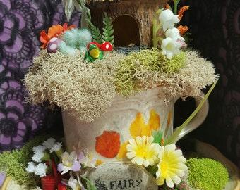 Teacup Fairy Garden, Adorable Fairy Garden, Unique gift idea, Birthday and Special Occasion, gift for her.