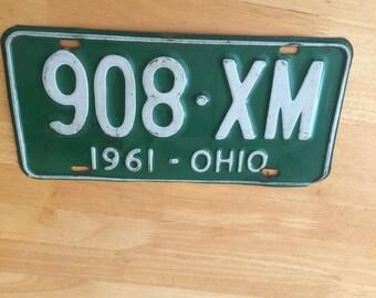 Vintage 1961 Ohio License Plates
