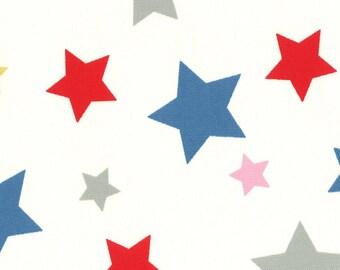 Lecien Maison Fabric - Flower Sugar Maison Fall 2016 Fabric - Multi Star Fabric - Red Blue Pink Star Fabric - 40721 Lecien Fabric - Oxford