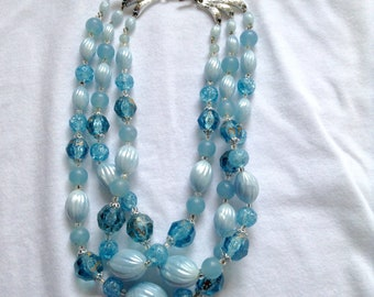 Signed Germany Mult Strand Bead Necklace