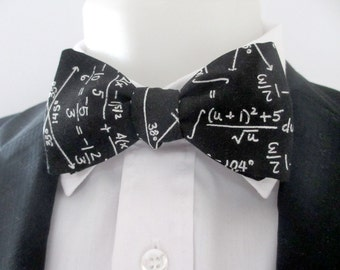 mens bowtie - for the maths specialist or just for fun ~ mathematical problems ~ sums ~ maths ~equations