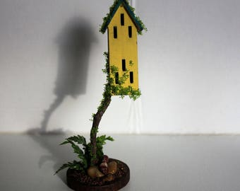 Miniature Landscaped Yellow Butterfly House